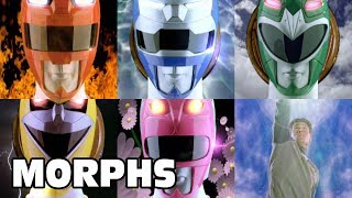 Power Rangers Lost Galaxy - All Ranger Morphs | Episodes 1-45 | It