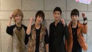 [ENG SUB] 101012 Rock of Ages the Musical   SHINee's Cheering Message - unlocKEY subs -