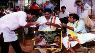 Tanikella Bharani Sharing kota Srinivasa Rao Food Funny Scene   Telugu Comedy   Silver Screen Movies