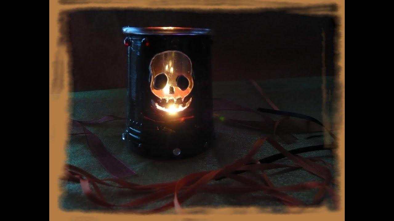 Fabriquer Un Photophore T Te De Mort Pour Halloween Youtube