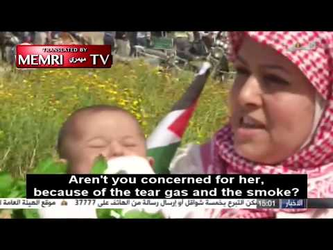 Woman Takes Baby to Gaza Protest