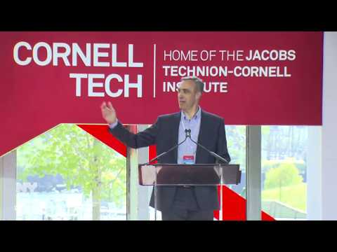 Mayor de Blasio Delivers Remarks at New Cornell Tech Campus Ribbon Cutting Ceremony