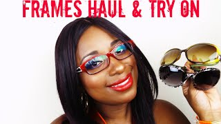 Frames Frames Frames Glasses and Sunglasses Haul Try On || Qualah Vicariously Me