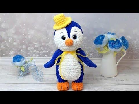 Вязаные крючком пингвины