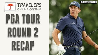 PGA Tour Round 2 Recap of Travelers; Phil Mickelson Leads At -13 | CBS Sports HQ