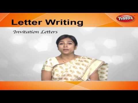 How To Write Invitation Letters | Letter Writing In English | Writing Letters For Kids