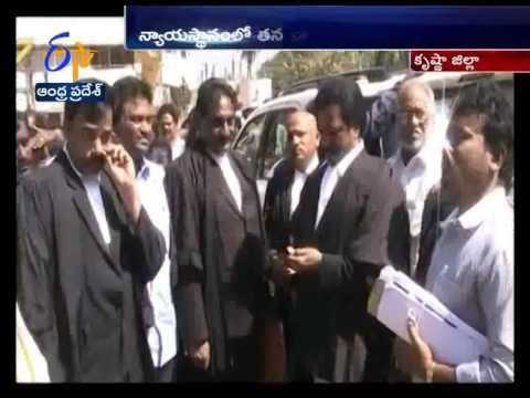 MLA Roja Attend Private Case In Gannavaram Court