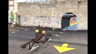 Wile E. Coyote vs. Roadrunner im AR