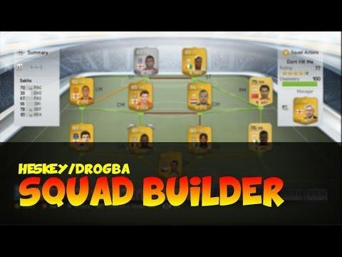Fifa 14 Ultimate Team // Squad Builder - HESKEY & DROGBA Hybrid!