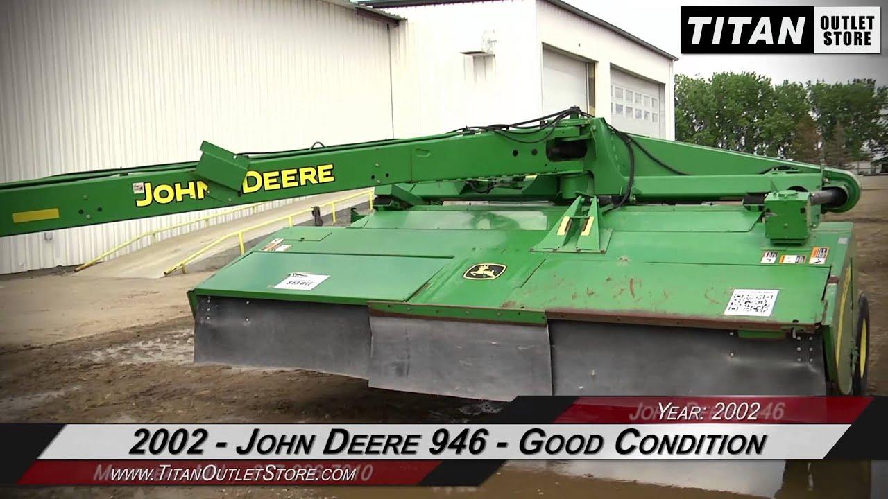 John Deere 946 - 13 ft, Center Pivot, Swivel Hitch, 1000 pto Mower  Conditioner Sold on ELS!