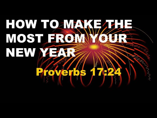 How To Make The Most Of Your New Year (01/03/2021)