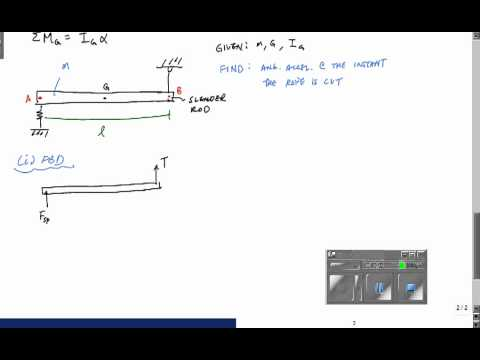 Rigid Body Kinetics with Rotation - Engineering Dynamics