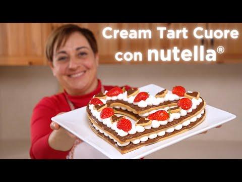 CREAM TART CUORE CON NUTELLA®  Ricetta Facile - Fatto in Casa da Benedetta