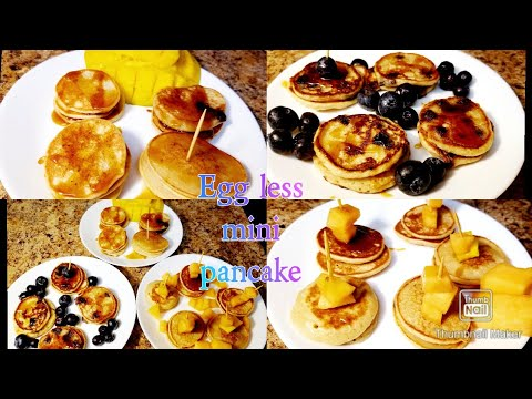 wheat flour pancake/Father's day meal ideas/mini pancake cereal/Eggless father's day recipe /