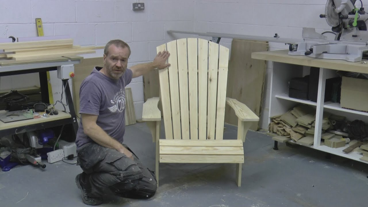 making your own adirondack chairs | How to build an Adirondack Chair Part 1 SAVE MONEY build ...