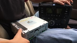 How Remove/Replace Factory Stereo-Radio & Temp/AC Climate Control Module Console Honda Accord 03-07