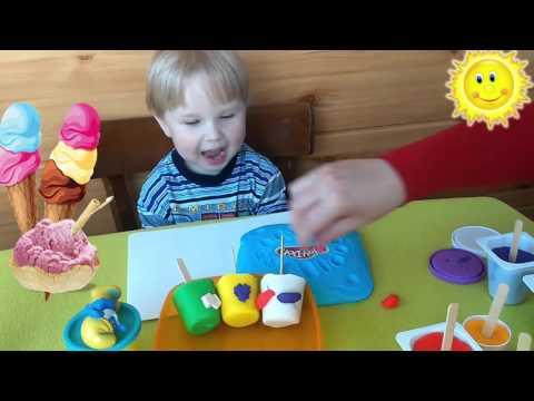 Мороженое из пластилина Play-Doh игрушки Хелоу
