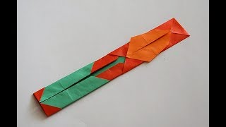 Оригами: Закладка Тюльпан