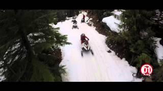 Snowmobiling in Callahan Valley, Whistler