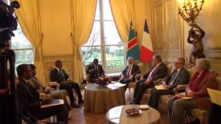 AUBIN MINAKU PR. AN RDC & DE L'APF RECU PAR LE PR. DE L'AN FRANCAISE Mr CLAUDE BARTOLONE