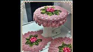 Вязанные коврики крючком для ванной комнаты. Подборка фотографий из интернета.