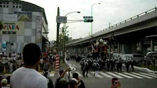 9/27 豊田南交差点での試験曳きの様子です 動画は豊田と泉田中.