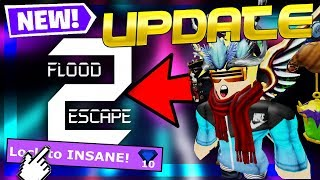 FLOOD ESCAPE 2 *NEW* GUI, EMOTES, AND PRO LOBBY UPDATE!!! | Roblox Flood Escape 2