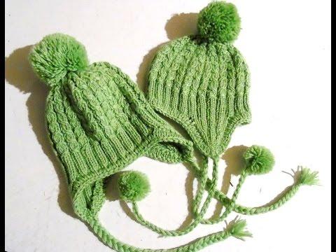 Шапочка для мальчика 5 лет спицами зеленая