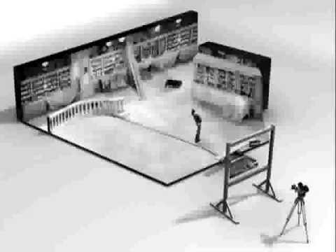 Charlie Chaplin Modern Times Roller Skating Scene VFX