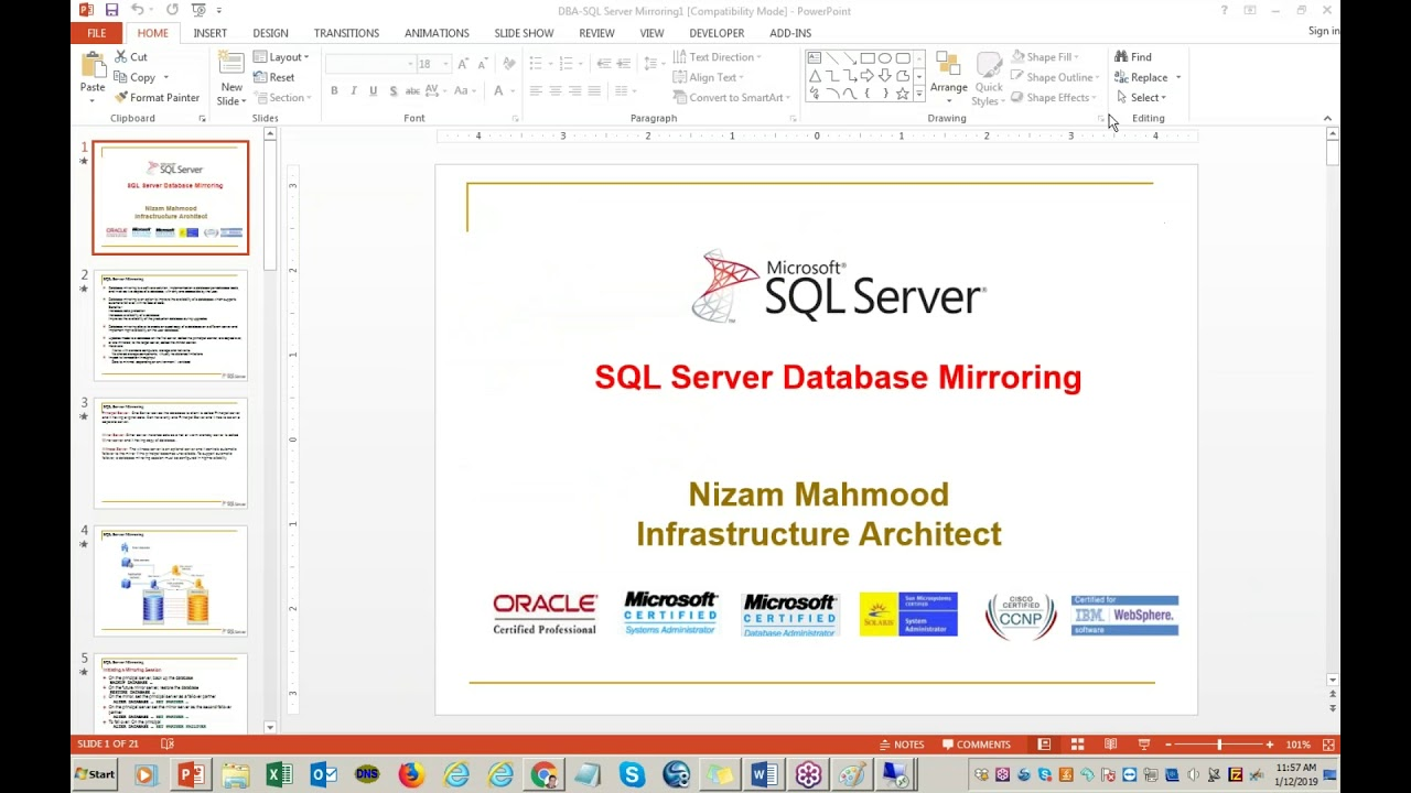 Microsoft Sql Server Database Administration Youtube