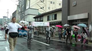 会津まつり 2012 会津藩公行列 神明通り入口 NHK大河 八重の桜にキャス...