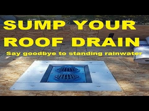 #7 Roof Drains   Replacing a plastic combination roof drain with cast iron  combo roof drain