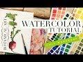Botanical Art Illustration full workshop ~ Radish ~ How to use Watercolors