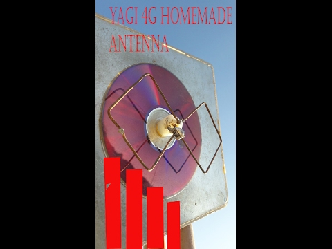 yagi antenna || 4g long range || home made|| with working prove