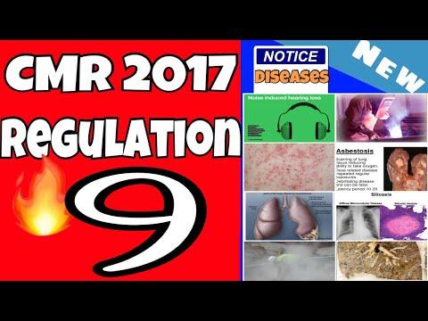 Regulation 9 || CMR 2017 || Notice Of Disease || Mining Videos || Coal Mines Regulation 2017