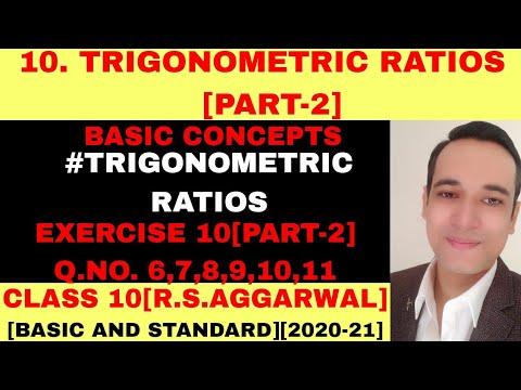 R.S.AGGARWAL SOLUTION CLASS 10 TRIGONOMRTIC RATIOS [PART-2]