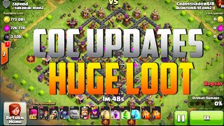 Clash of Clans - AMAZING LOOT RAID + |New Updates Clan Treasures|
