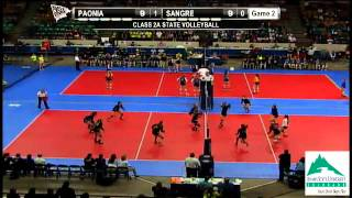 Class 2A State Volleyball Pool Play, Match #7:  Paonia vs. Sangre De Cristo