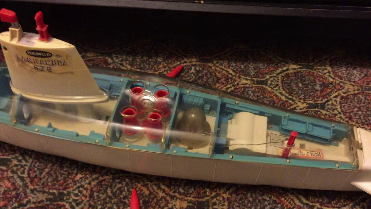 1960s Remco Barracuda 578 Atomic Submarine Battery Operated Toy ...