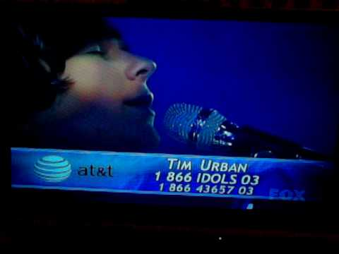 Tim Urban- I Cant Help Falling In Love With You- Live Stage preformance April 13th 2010