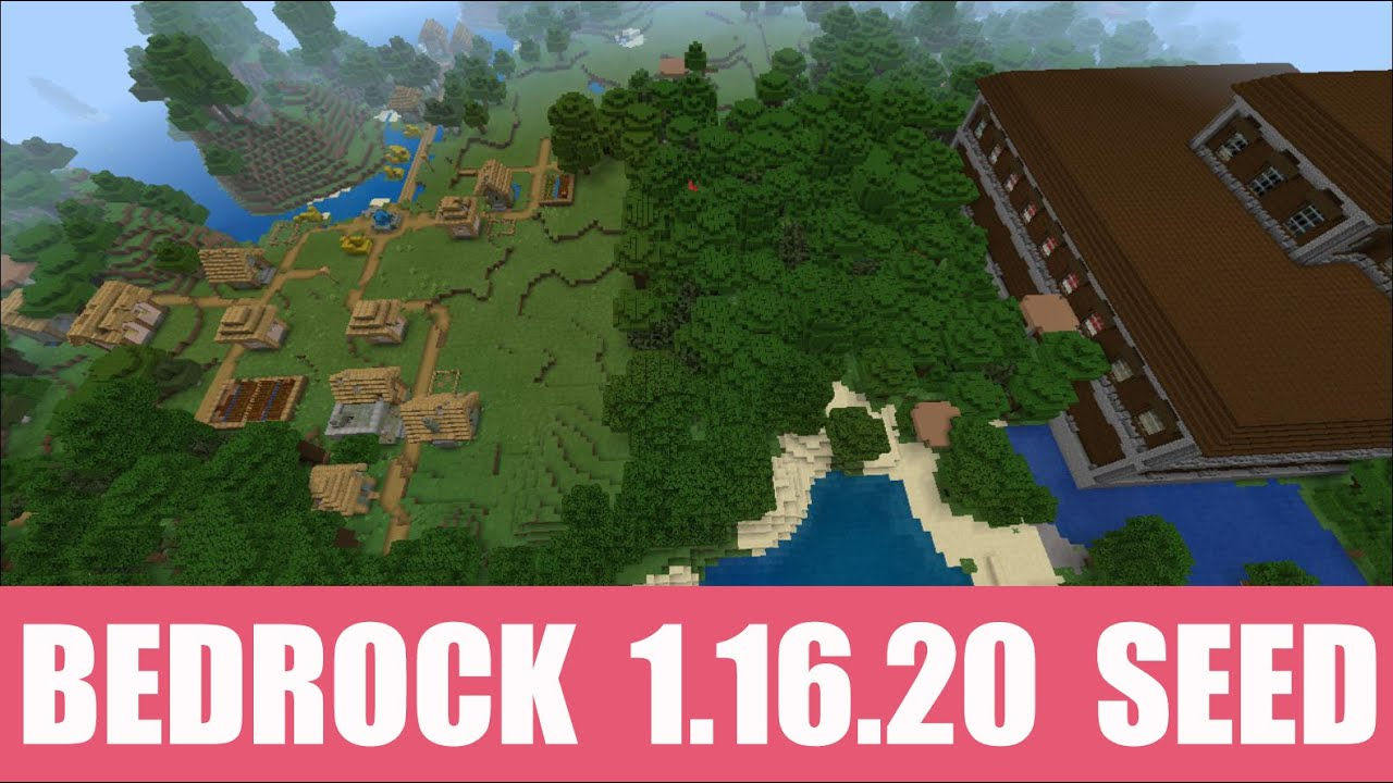 Minecraft Bedrock 1 16 20 Seed Woodland Mansion Stands Next To Zombie Village With Blacksmith Youtube