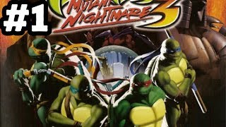 TMNT 3: Mutant Nightmare | 100% Walkthrough | Triceraton Invasion! (Part 1)