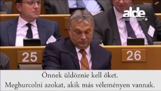 Szétsavazzák orbánt az Európai Parlamentben. Rajta röhög egész Európa.