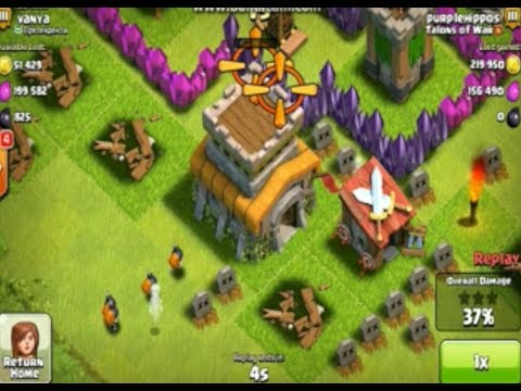 Clash of Clans - Town Hall Destroyed by Wall Breaker