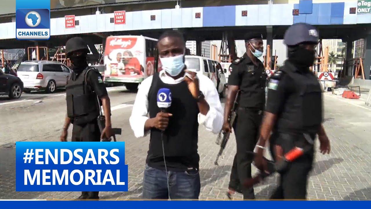 Download #ENDSARS Memorial: Channels TV Correspondent Gives Update From Lekki Tollgate