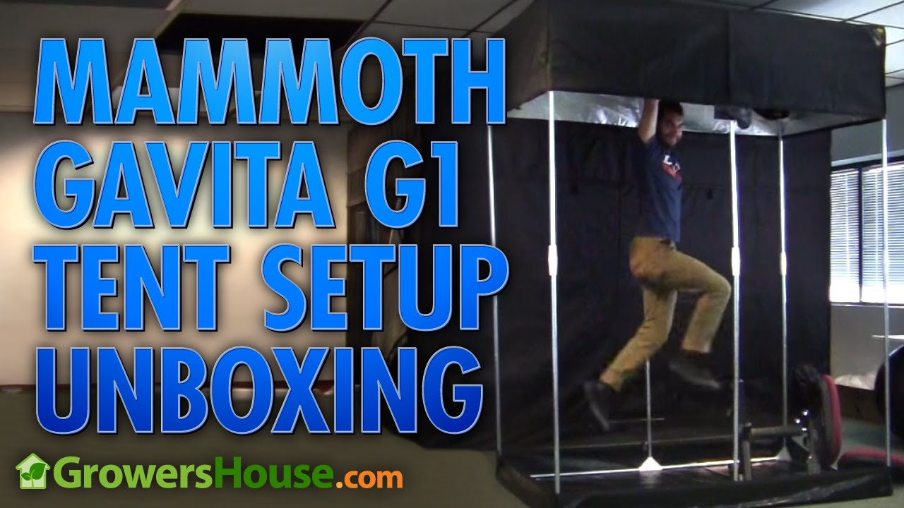 & Mammoth Gavita G1 Grow Tent Unboxing u0026 Setup - YouTube