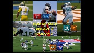 NCAA 14 Team Builder New SEC Game Day Week 5 part I