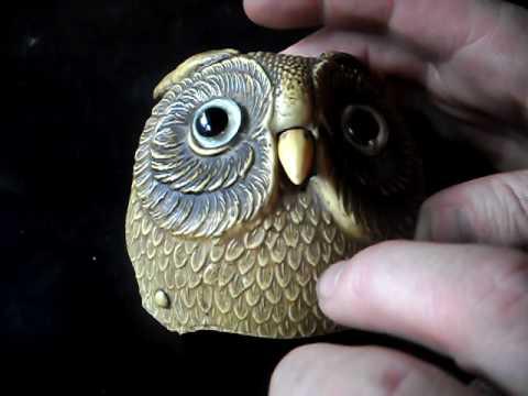 owl shop counter service  bell rare antique celluloid paddyandhisturnips figural ebay