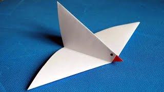 Как сделать голубя из бумаги. Детские бумажные поделки. Оригами.