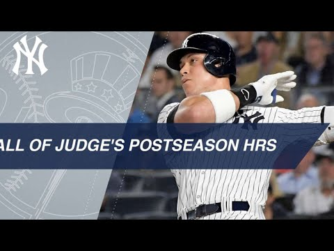Watch all 6 of Aaron Judge's career postseason homers